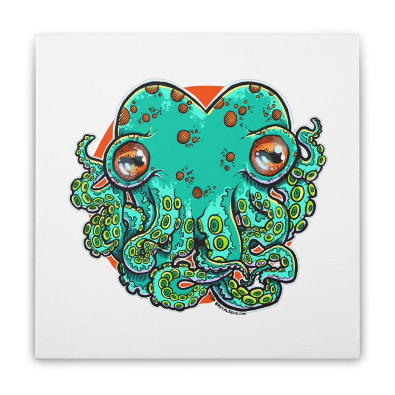 Cthulhu Heart Home Stretched Canvas by brutalsquid's Artist Shop