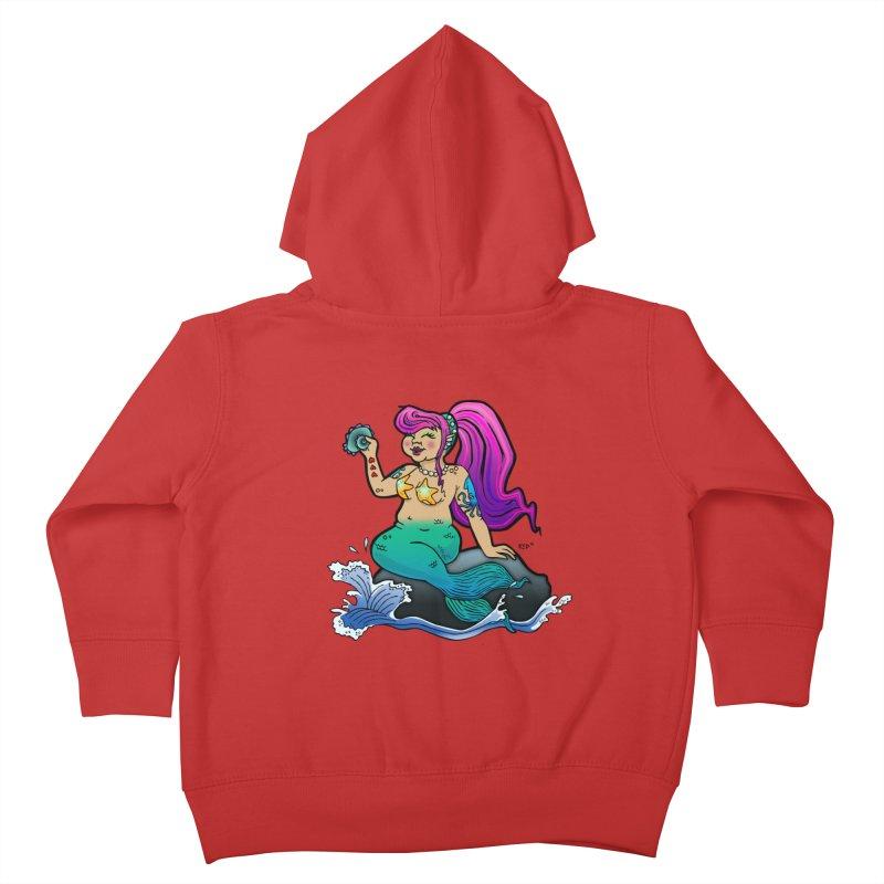 Chubby Mermaid Kids Toddler Zip-Up Hoody by brutalsquid's Artist Shop