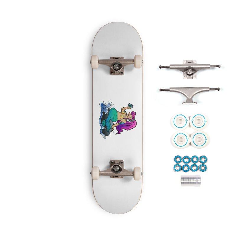 Chubby Mermaid Accessories Skateboard by brutalsquid's Artist Shop
