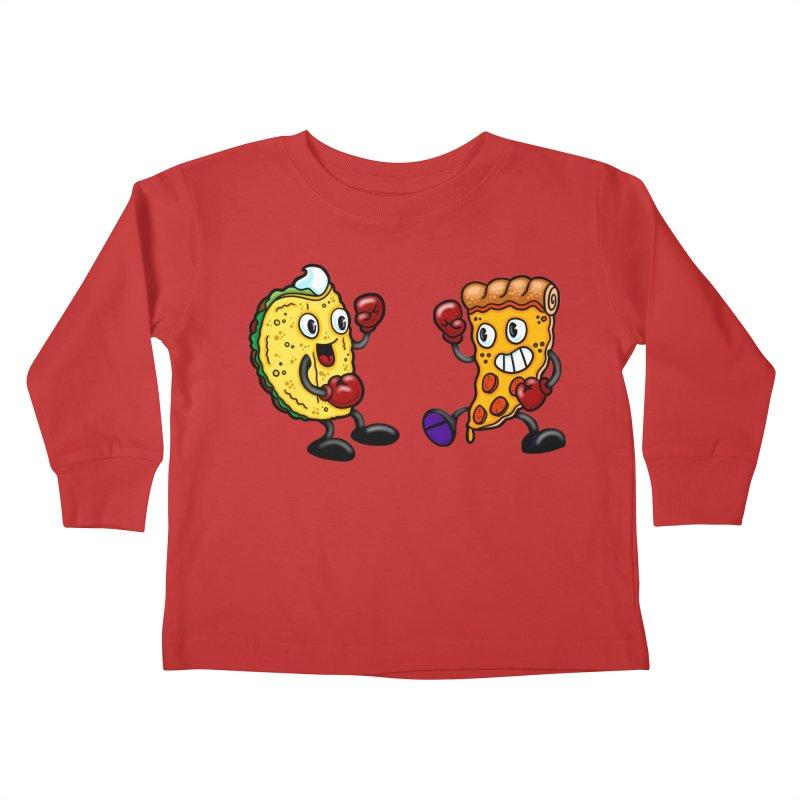 Food Fight I Kids Toddler Longsleeve T-Shirt by brutalsquid's Artist Shop