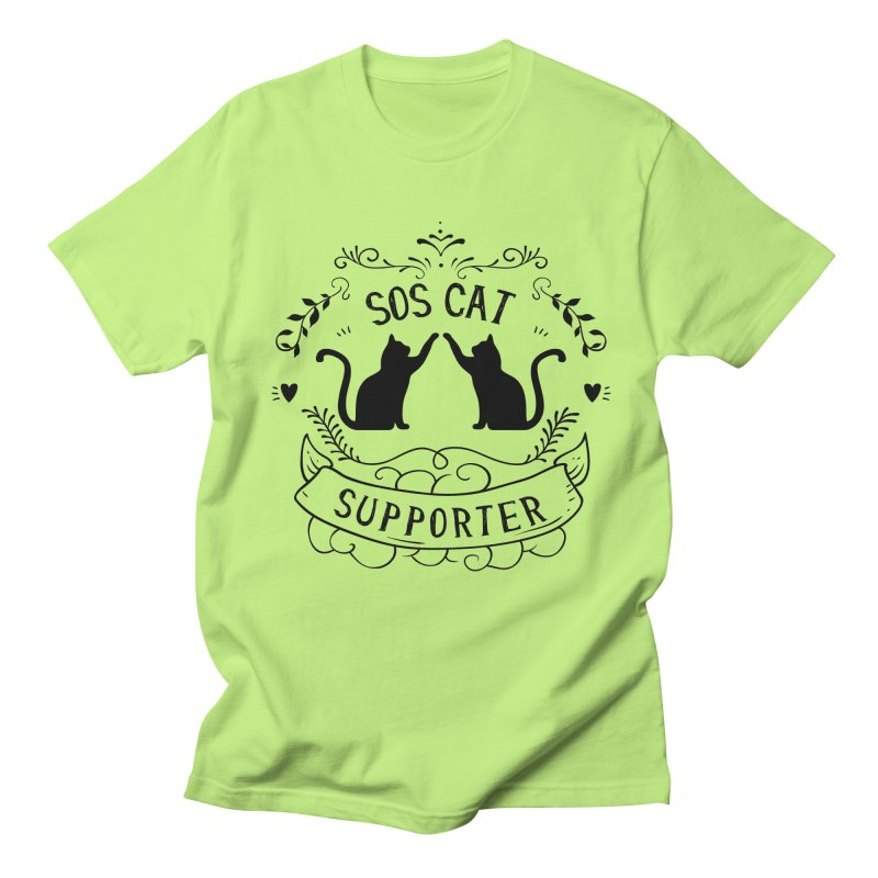SOS Cat Supporter Men's Regular T-Shirt by Shop to help cats
