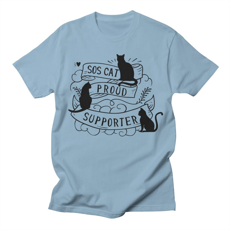 SOS Cat Proud Supporter Men's Regular T-Shirt by Shop to help cats