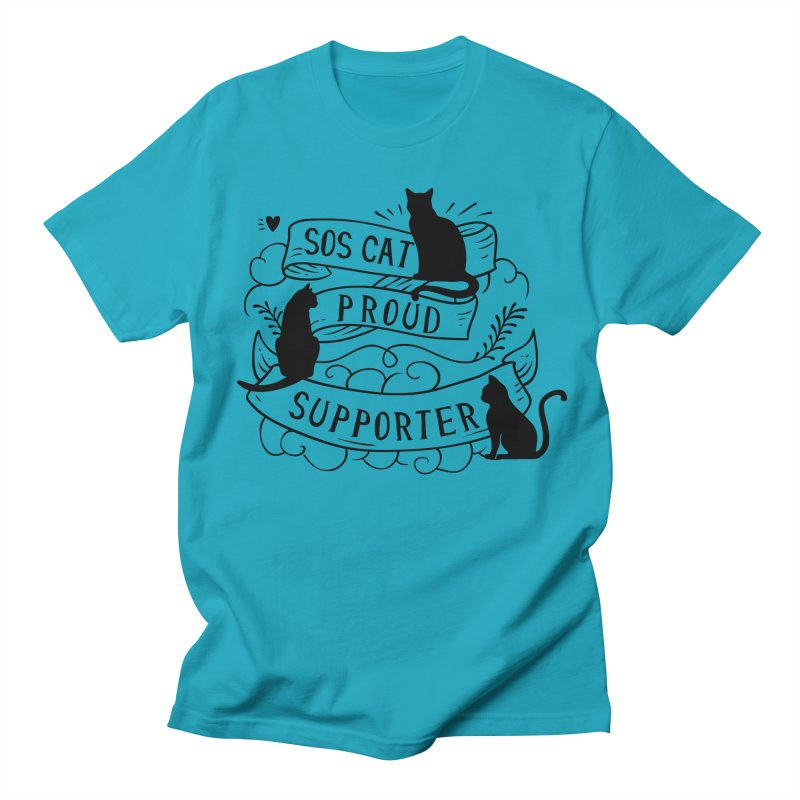 SOS Cat Proud Supporter Men's T-shirt by Shop to help cats