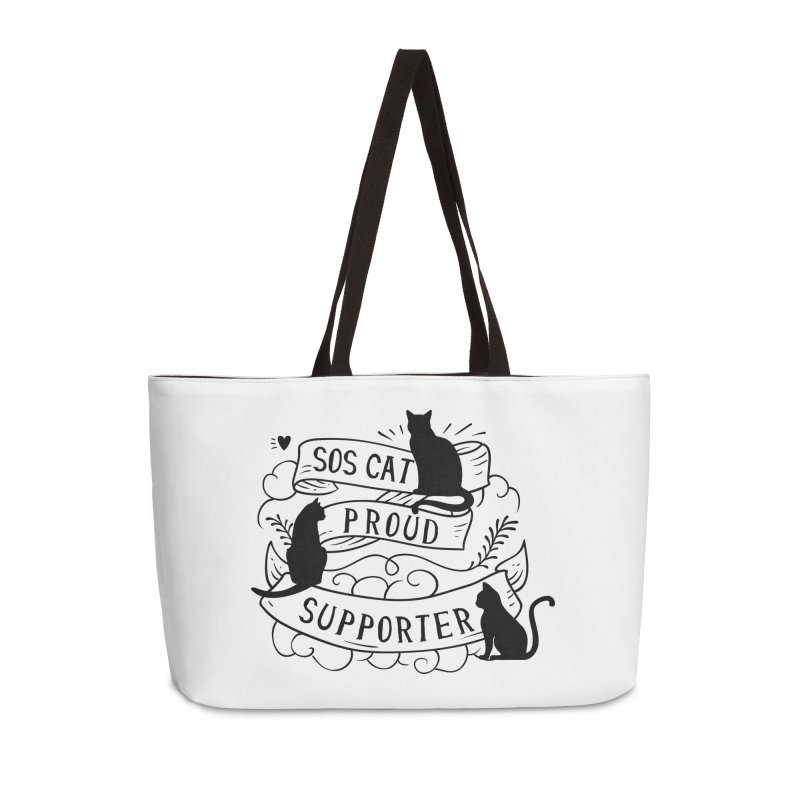 SOS Cat Proud Supporter in Weekender Bag by Shop to help cats
