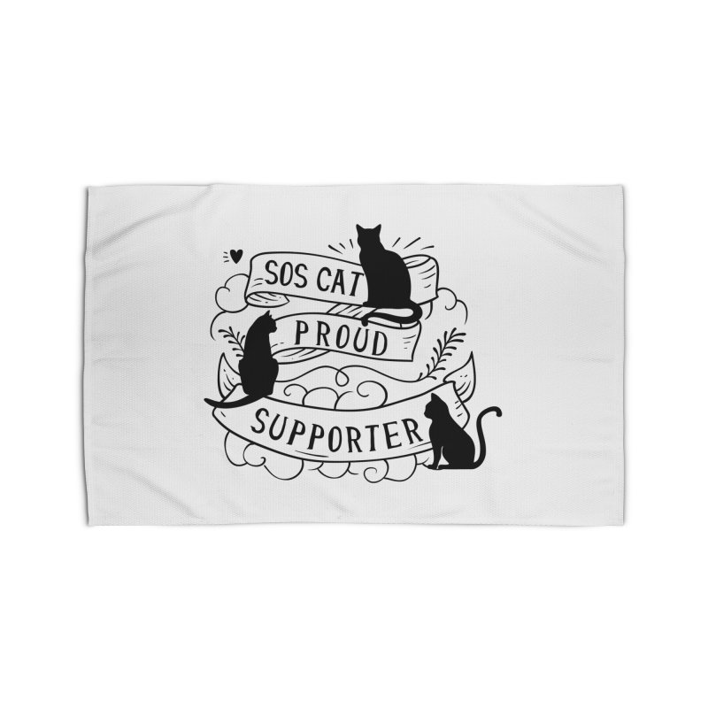 SOS Cat Proud Supporter Home Rug by Shop to help cats