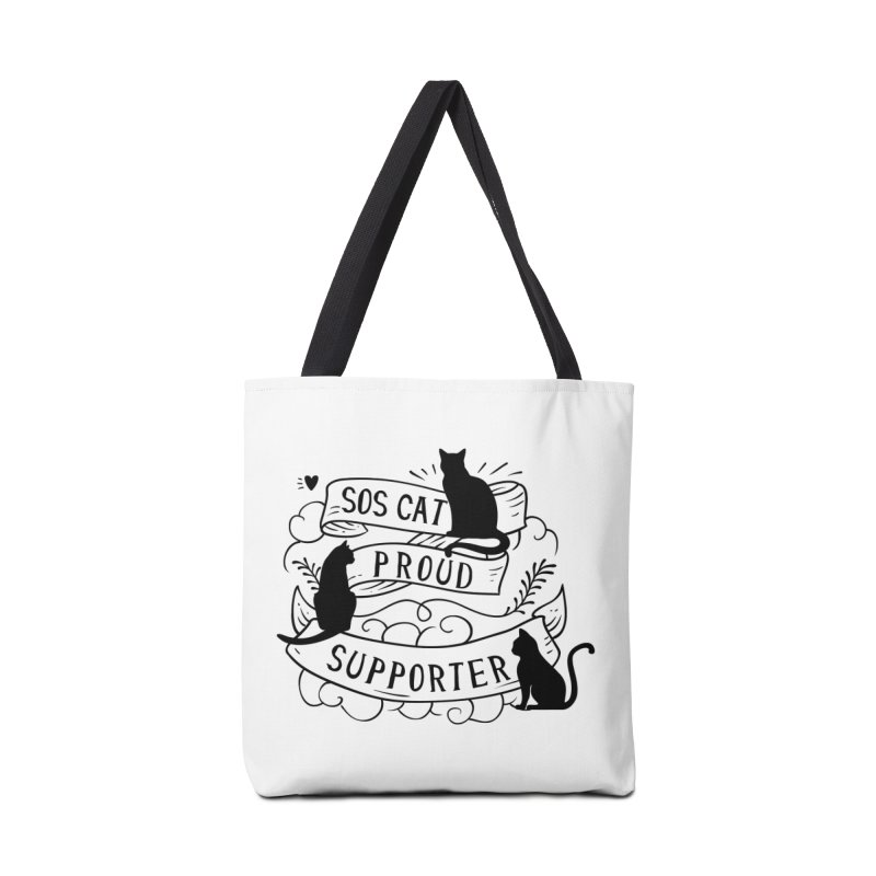 SOS Cat Proud Supporter Accessories Bag by Shop to help cats
