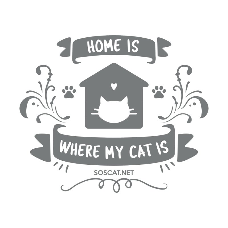 Home is where my cat is Home Throw Pillow by Shop to help cats