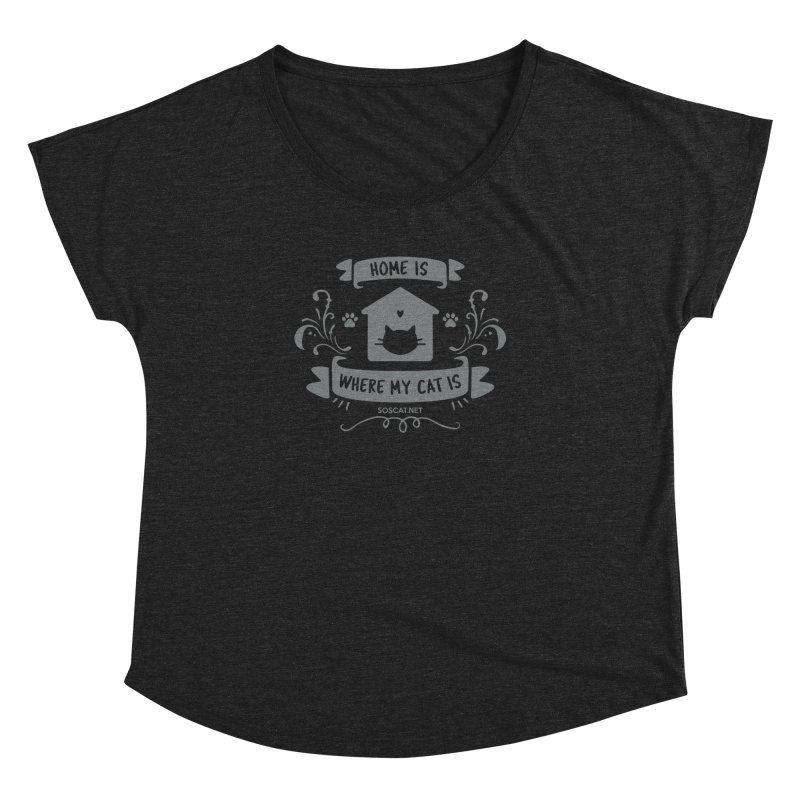 Home is where my cat is Women's Scoop Neck by Shop to help cats