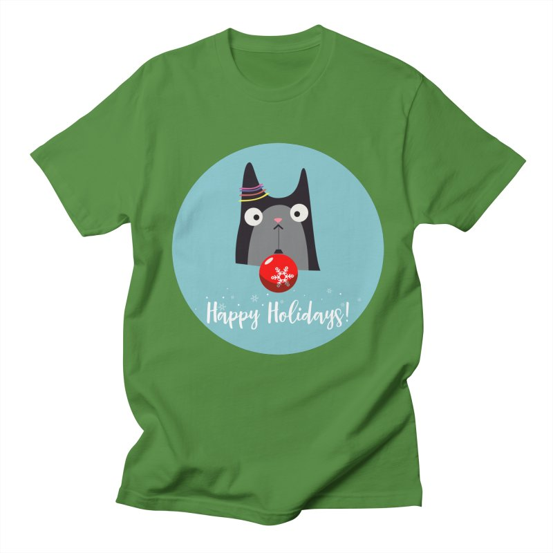 Happy Holidays, Cat Men's T-Shirt by Shop to help cats