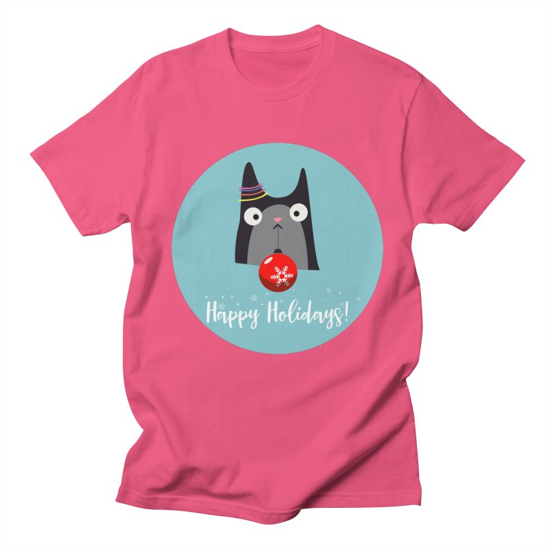Happy Holidays, Cat Women's T-Shirt by Shop to help cats