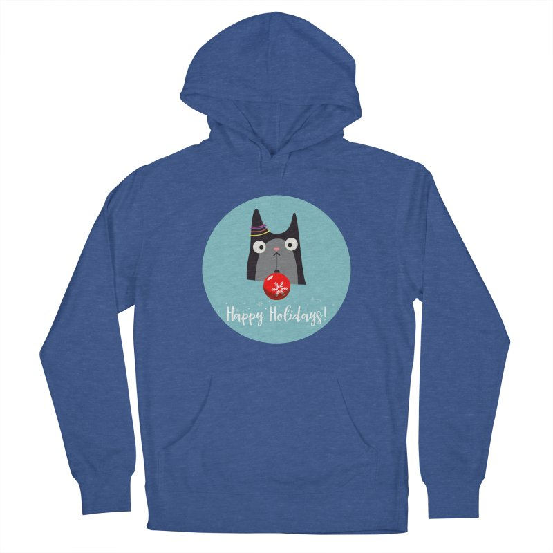 Happy Holidays, Cat Women's French Terry Pullover Hoody by Shop to help cats