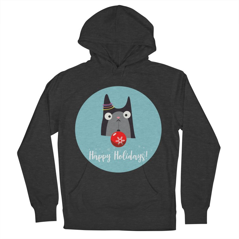 Happy Holidays, Cat Women's Pullover Hoody by Shop to help cats