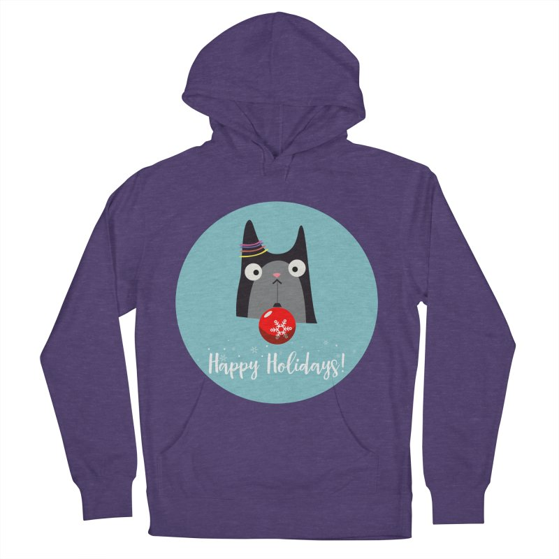 Happy Holidays, Cat Men's Pullover Hoody by Shop to help cats