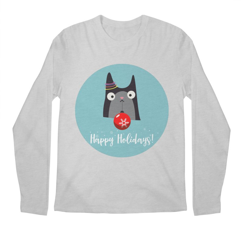 Happy Holidays, Cat Men's Longsleeve T-Shirt by Shop to help cats