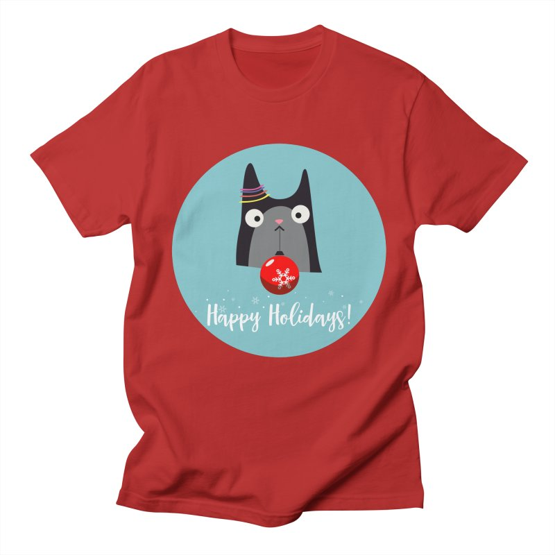Happy Holidays, Cat Women's Unisex T-Shirt by Shop to help cats