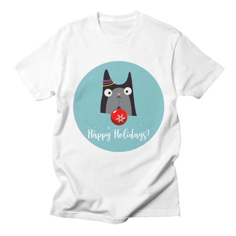 Happy Holidays, Cat Men's Regular T-Shirt by Shop to help cats