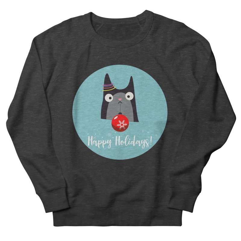 Happy Holidays, Cat Women's French Terry Sweatshirt by Shop to help cats