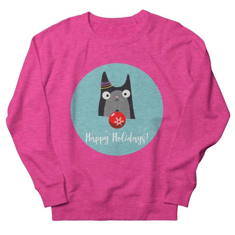 Happy Holidays, Cat Women's Sweatshirt by Shop to help cats