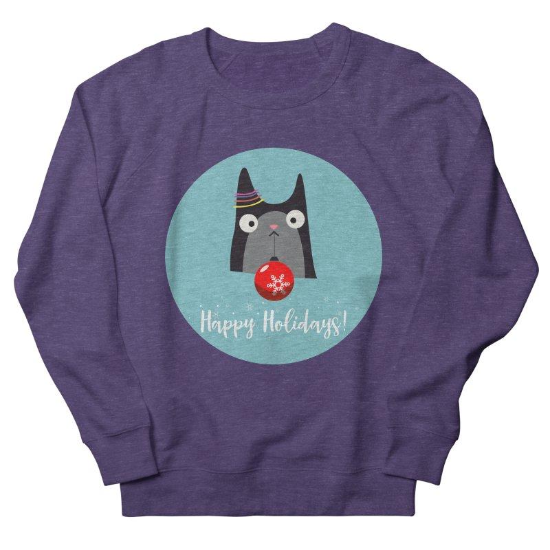 Happy Holidays, Cat Men's Sweatshirt by Shop to help cats