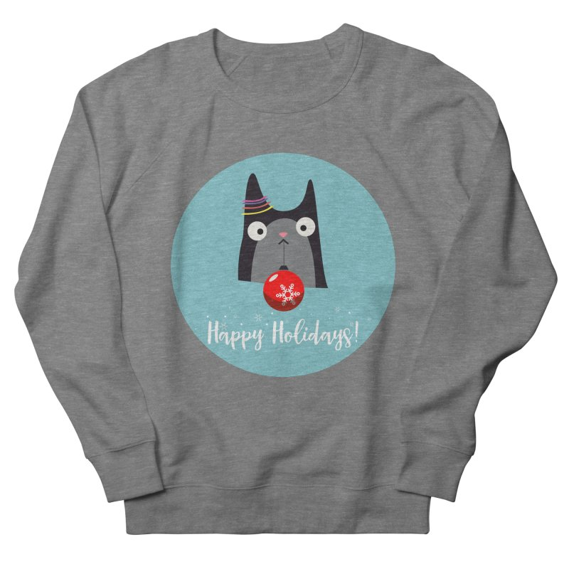 Happy Holidays, Cat Men's French Terry Sweatshirt by Shop to help cats