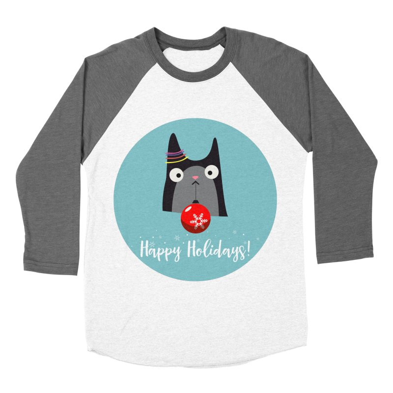 Happy Holidays, Cat Women's Longsleeve T-Shirt by Shop to help cats