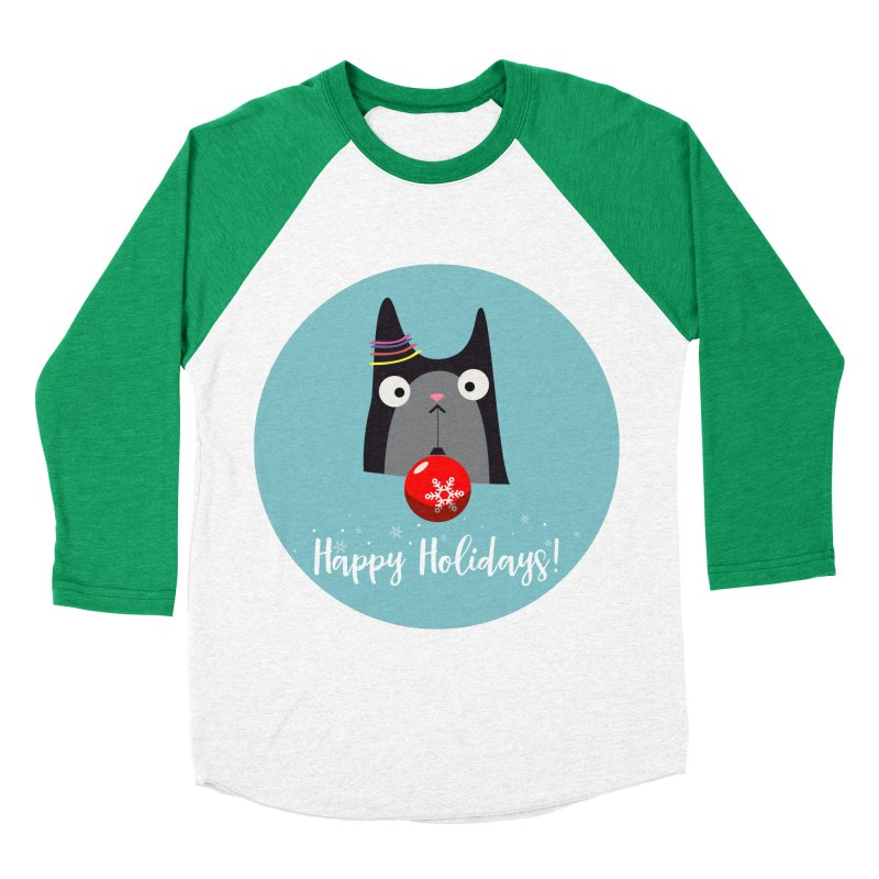 Happy Holidays, Cat Women's Baseball Triblend T-Shirt by Shop to help cats
