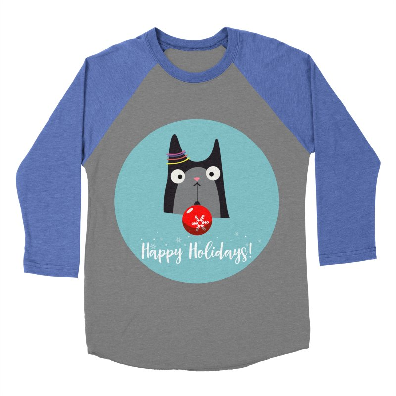 Happy Holidays, Cat Men's Baseball Triblend T-Shirt by Shop to help cats