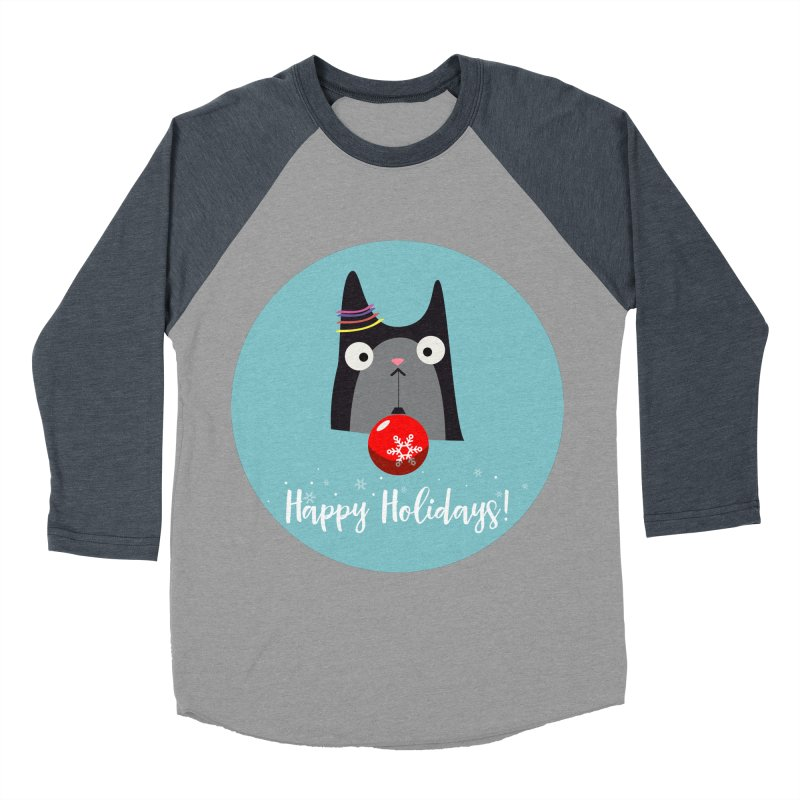 Happy Holidays, Cat Men's Baseball Triblend Longsleeve T-Shirt by Shop to help cats