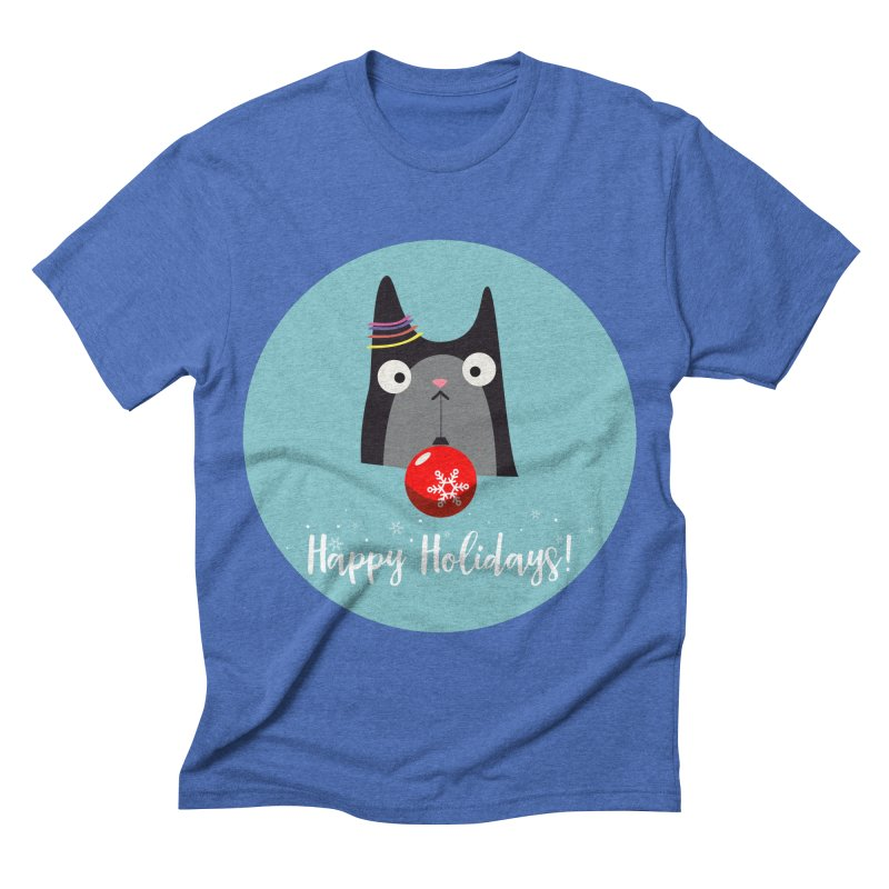 Happy Holidays, Cat Men's Triblend T-shirt by Shop to help cats
