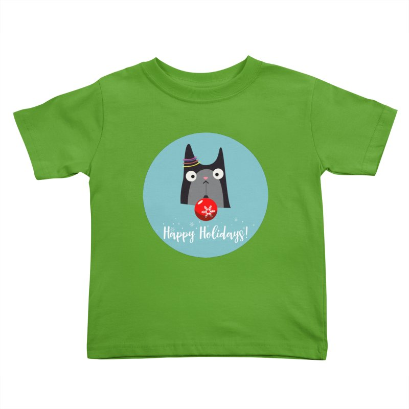 Happy Holidays, Cat Kids Toddler T-Shirt by Shop to help cats