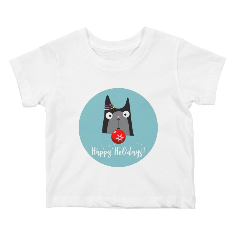 Happy Holidays, Cat Kids Baby T-Shirt by Shop to help cats