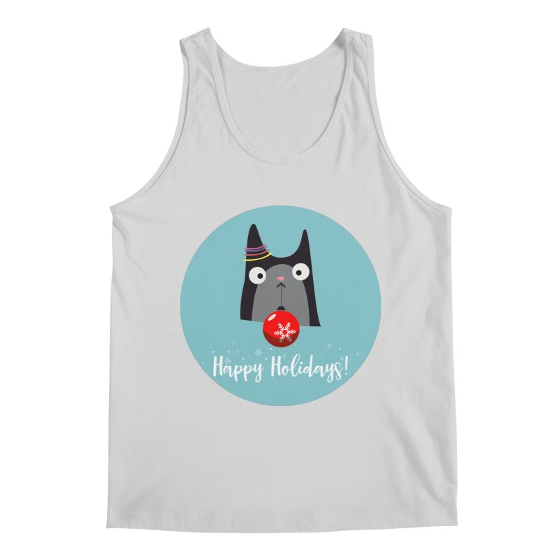 Happy Holidays, Cat Men's Tank by Shop to help cats