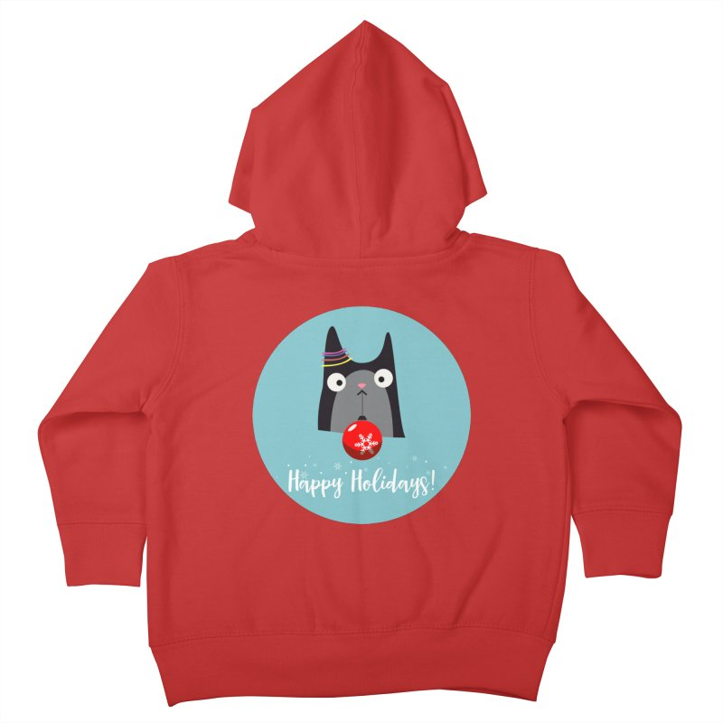 Happy Holidays, Cat Kids Toddler Zip-Up Hoody by Shop to help cats