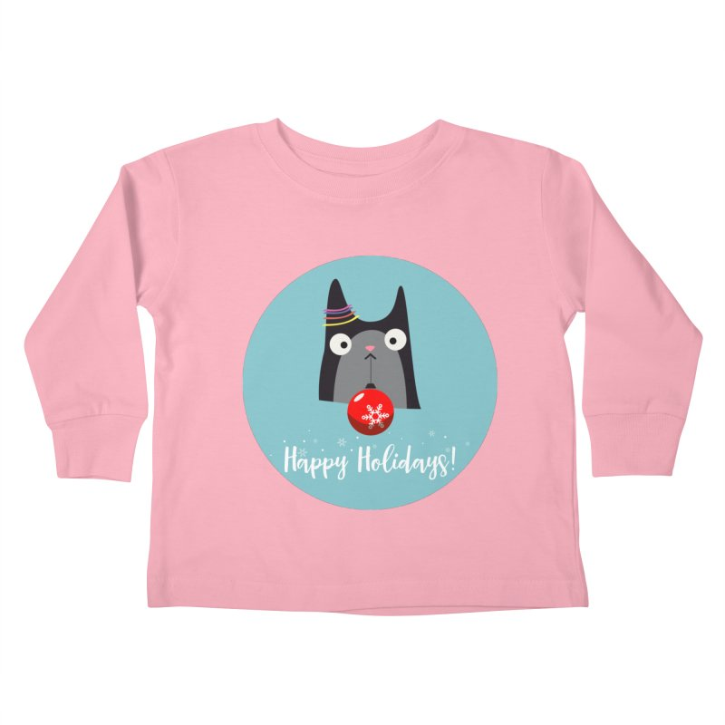 Happy Holidays, Cat Kids Toddler Longsleeve T-Shirt by Shop to help cats