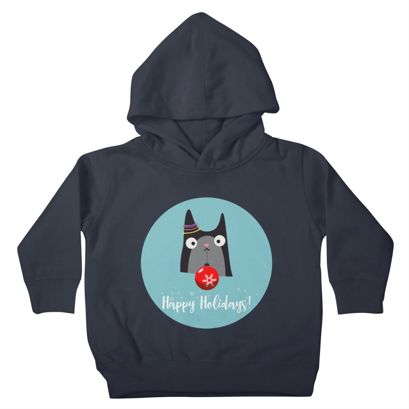 Happy Holidays, Cat Kids Toddler Pullover Hoody by Shop to help cats