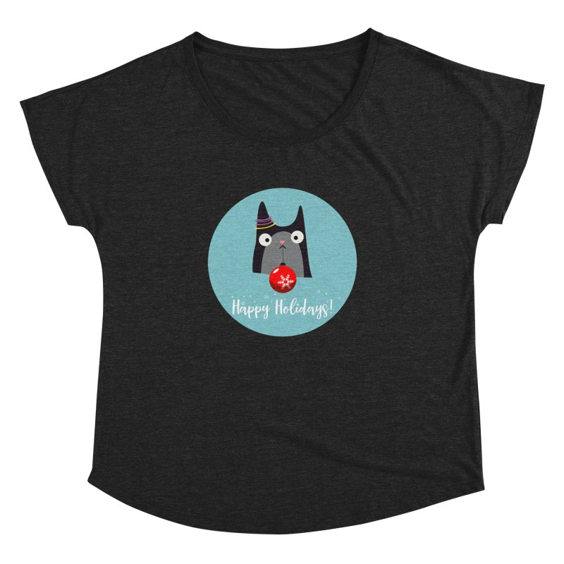 Happy Holidays, Cat Women's Dolman by Shop to help cats