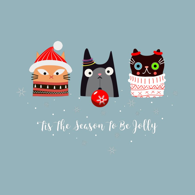 'Tis the season to be jolly... Home Throw Pillow by Shop to help cats