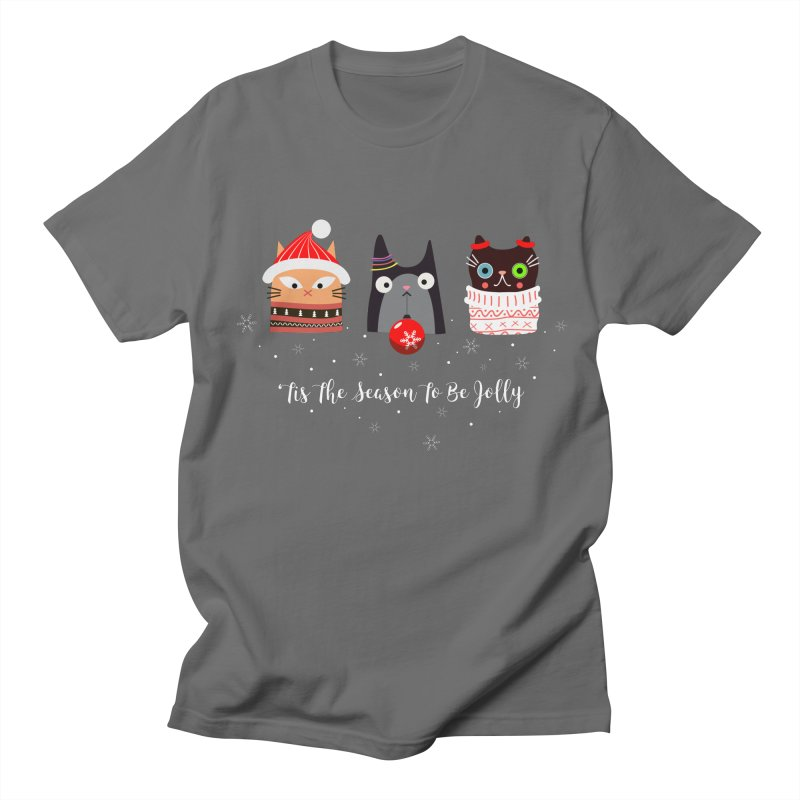 'Tis the season to be jolly... Men's T-Shirt by Shop to help cats