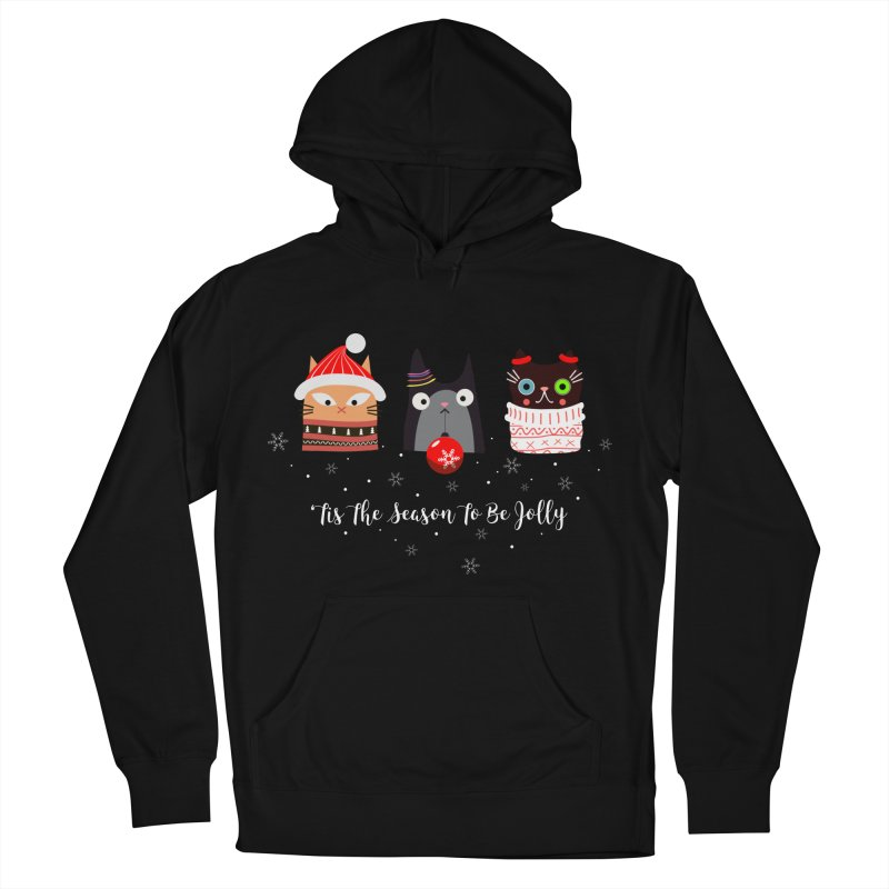 'Tis the season to be jolly... Men's French Terry Pullover Hoody by Shop to help cats