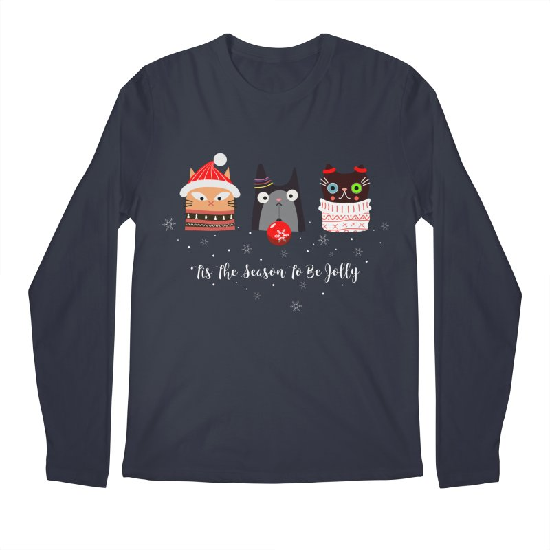 'Tis the season to be jolly... Men's Regular Longsleeve T-Shirt by Shop to help cats
