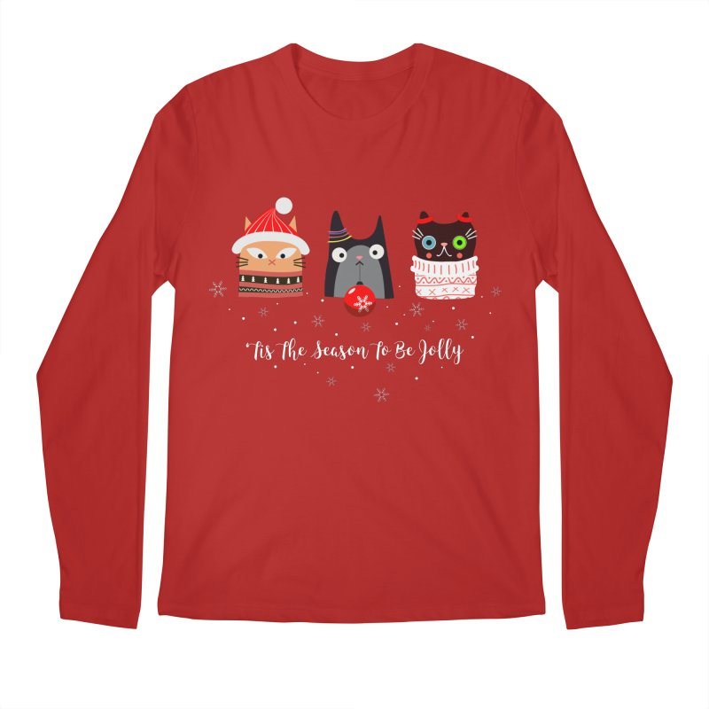 'Tis the season to be jolly... Men's Longsleeve T-Shirt by Shop to help cats