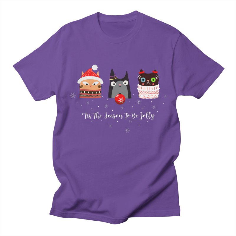 'Tis the season to be jolly... Women's Regular Unisex T-Shirt by Shop to help cats