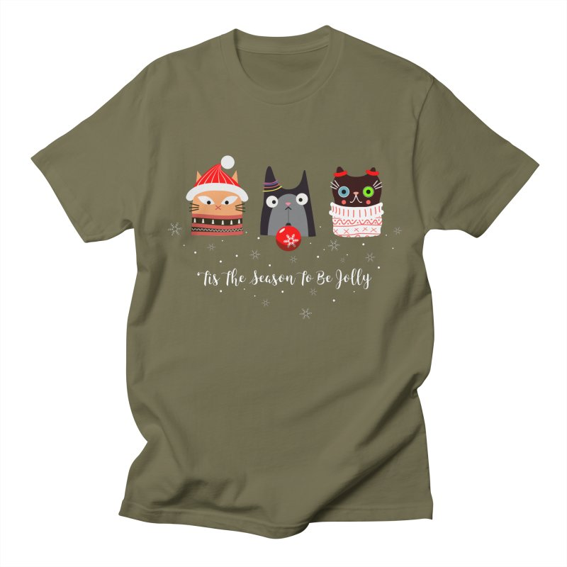 'Tis the season to be jolly... Men's Regular T-Shirt by Shop to help cats