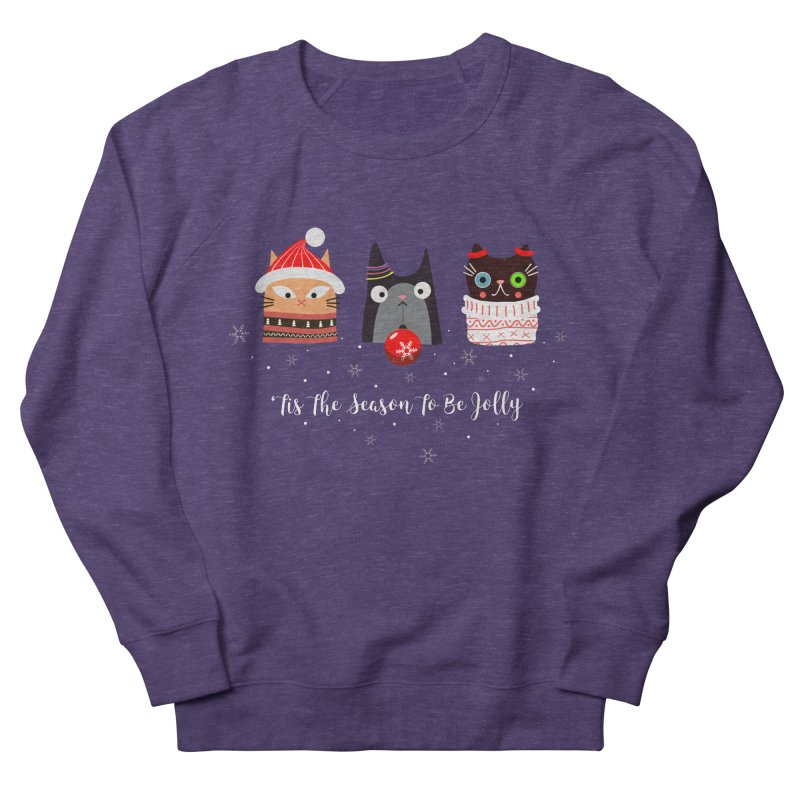 'Tis the season to be jolly... Men's French Terry Sweatshirt by Shop to help cats