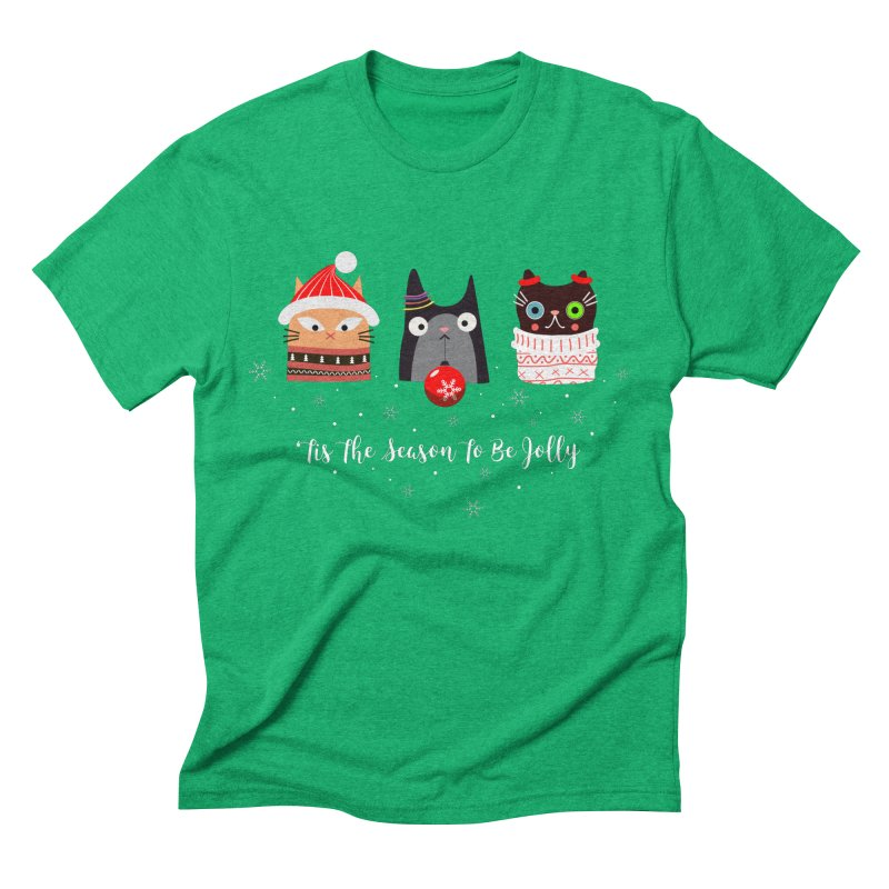 'Tis the season to be jolly... Men's Triblend T-Shirt by Shop to help cats