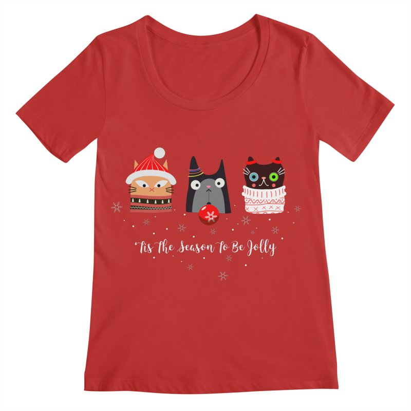 'Tis the season to be jolly... Women's Regular Scoop Neck by Shop to help cats