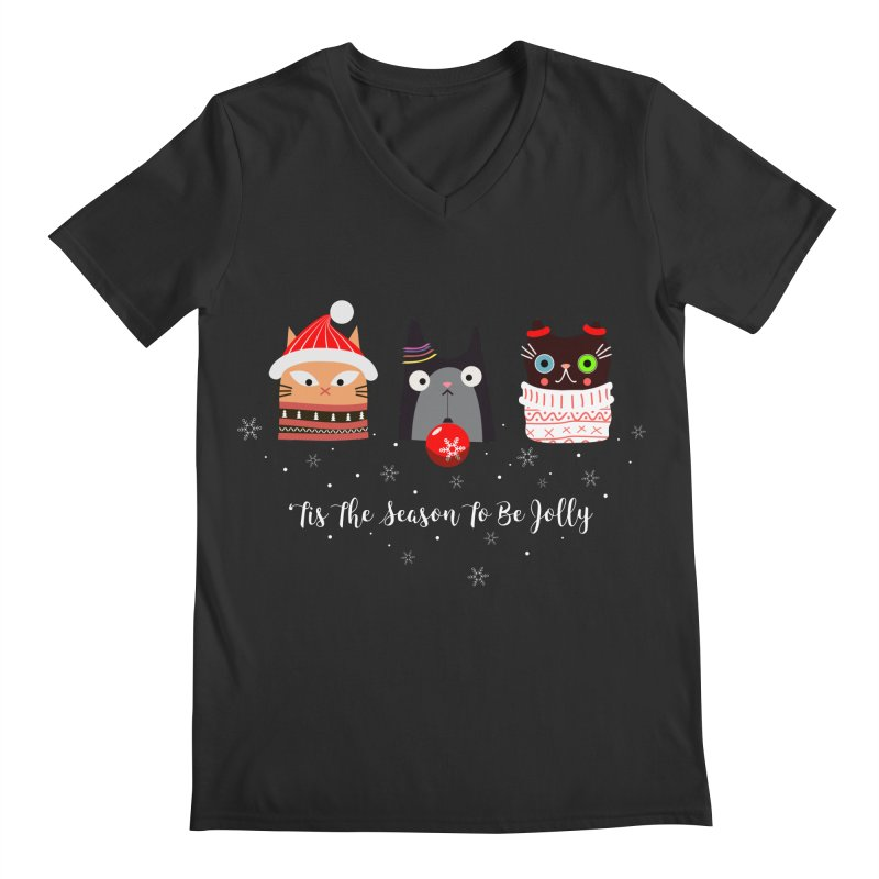 'Tis the season to be jolly... Men's V-Neck by Shop to help cats