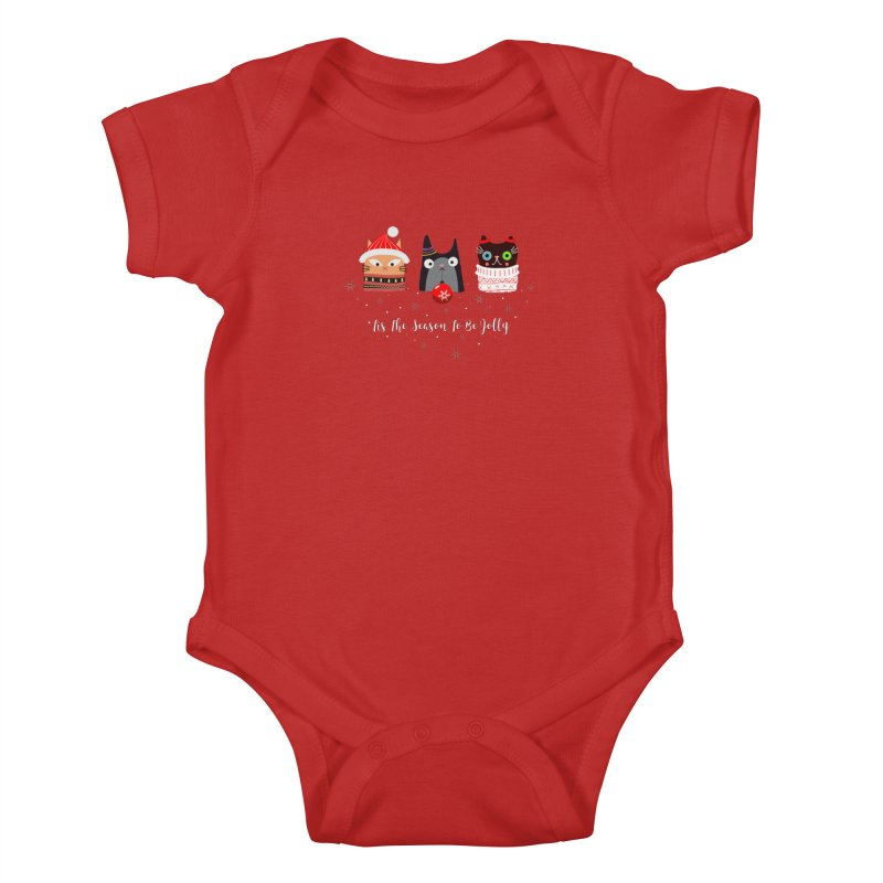 'Tis the season to be jolly... Kids Baby Bodysuit by Shop to help cats