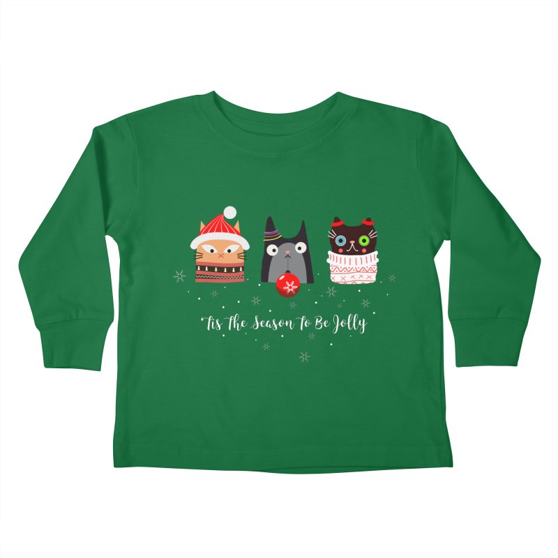 'Tis the season to be jolly... Kids Toddler Longsleeve T-Shirt by Shop to help cats