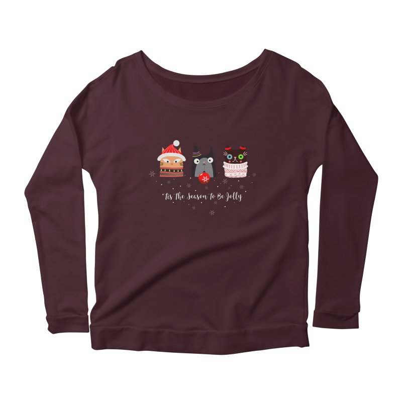 'Tis the season to be jolly... Women's Longsleeve Scoopneck  by Shop to help cats
